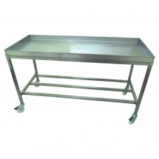 Stainless Steel Tray Table 1200mm x 600mm x 840mm With Drainage Hole