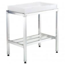 Aluminium Framed Table With A Plastic Tray