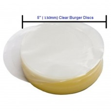 Burger Discs Cellophane Round Clear 130mm  Pack of ~1000