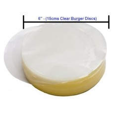 Burger Disc Round 150mm Clear Cellophane Pack Of 1000