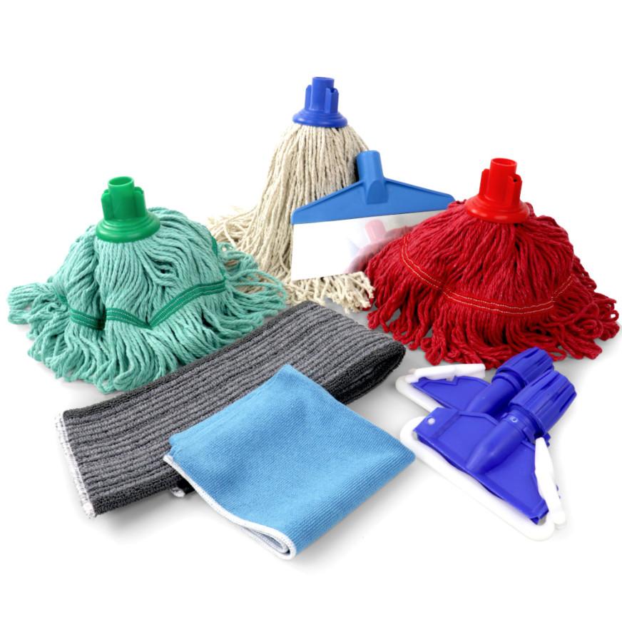 Mops, Cloths & Scrapers