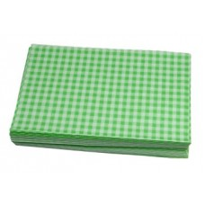 Duplex Sheets Gingham  250x375mm - Green Pack of 1000
