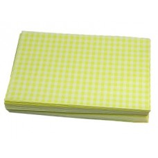Duplex Sheets Gingham  250x375mm - Yellow packs of  1000