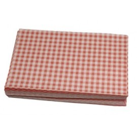 Duplex Sheets Gingham  250x375mm - Red  Packs of  1000
