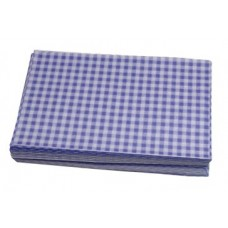Duplex Sheets Gingham 250x375mm - Blue  Per 1000