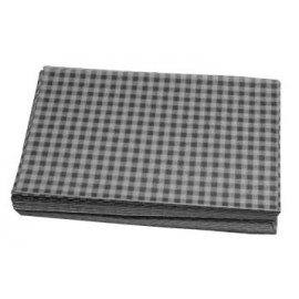 Duplex Sheets Gingham  250x375mm - Black Packs of  1000