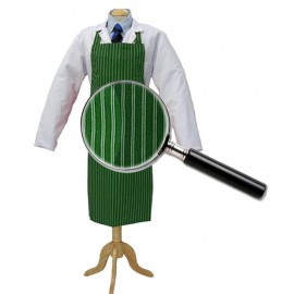 Apron Green &White Twin Stripe 90cm x 100cm