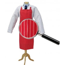 Apron Red &White Twin Stripe 90cm x 100cm