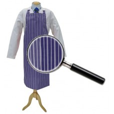 Apron Blue &White College Stripe 90cm x 100cm