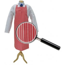 Apron Red &White College Stripe 90cm x 100cm