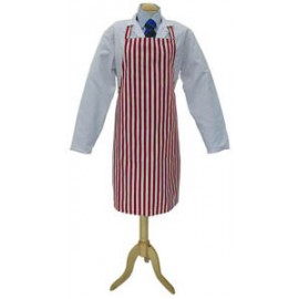 Apron Red &White Bold Stripe Bib 70cm x 90cm