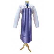 Apron Blue &White Vinyl &Cotton 75cm x 100cm
