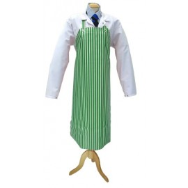 Apron Green &White Vinyl &Cotton 75cm x 100cm
