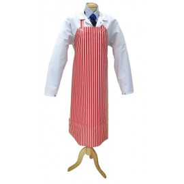 Apron Red &White Vinyl &Cotton 75cm x 100cm