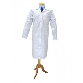 White Poly Cotton Coat (Ladies) Large 116cm.