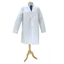 White Hygiene Coat (Mens) Small 92cm