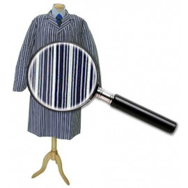 Blue College Stripe Coat Large 116cm
