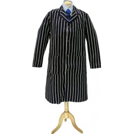 Butchers Navy &White Stripe Coat Medium 104cm