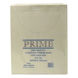 "Poly Bag Boxed 8"" x 10"" 100g - Per 1000"