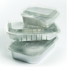 Lids for Sharing Size (293mm x 193mm x 45mm) Smoothwall Foils; Pack of 25