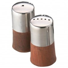 Condiment Set Wood Base 6cm