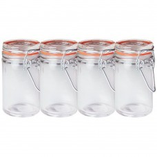 Clip Top Jars Mini Country Kitchen Pack 4