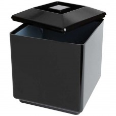 Ice Bucket Square Plastic Black 12.5cm(~5