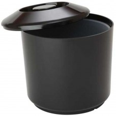 Ice Bucket Round Plastic Black 16cm(~6