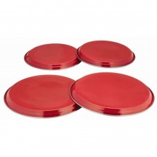 'Colours' 4pc Hob Covers Red