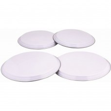'Colours' 4pc Hob Covers White