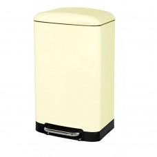 Pedal Bin Rectangular Cream 30Ltr
