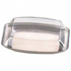 Butter Dish Stainless Steel Plastic Lid