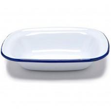 "Dish Pie Enamel 20cm x 14cm(~8""x 5½"")"