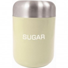 Canister Sugar Cream Stainless Steel Lid 15cm x 4.5cm