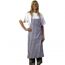 Apron Bib Blue &White Stripe