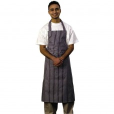 Apron Bib Nylon Blue &White