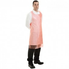 Apron Polythene Red On Roll 690x1070mm 18µ 200 per Roll