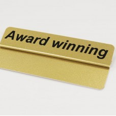 Award Winning Gold Ticket Topper 86x18mm 10 per Pack