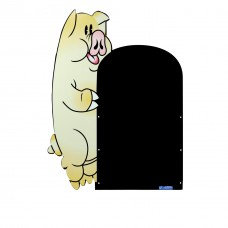 Pig Pavement Character Display Board 990 x 590mm