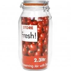 "Glass Preserving Jar Cliptop 25.5cm(~10"")"