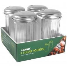 Fliptop Glass Sugar Pourer 4 Pack