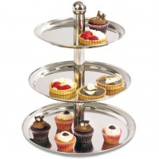 Cake Stand Stainless Steel 3 Tier 40cm, 35cm, 30cm