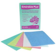 Blue Anti-bacterial Medium Weight Semi Durable Cleaning Cloths 50x36cm 50 per Pack