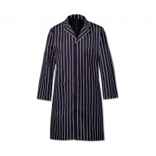 Coat Butchers Stripe Navy Cotton 42-44