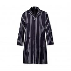 Coat Butchers Stripe Navy Cotton 34-36