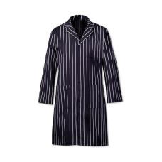 Coat Butchers Stripe Navy Cotton 50-52