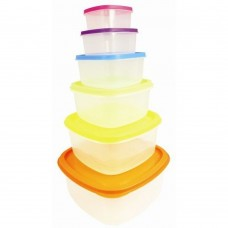 6 Piece 'Rainbow' Storage Set