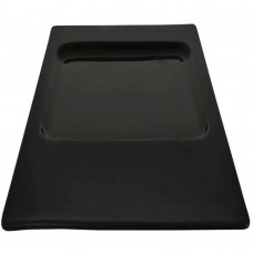 "Plate Contra Rect Black 30cm(~12"")"