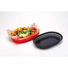 Basket, Fast Food, Black, 26x18cm Pack 6