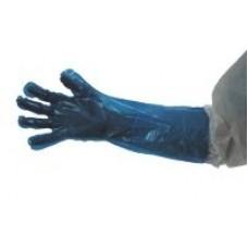 BLUE PE GLOVE 50CM